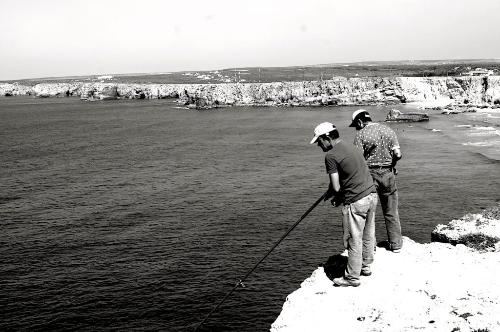 Fishermen at Sagres, Portugal