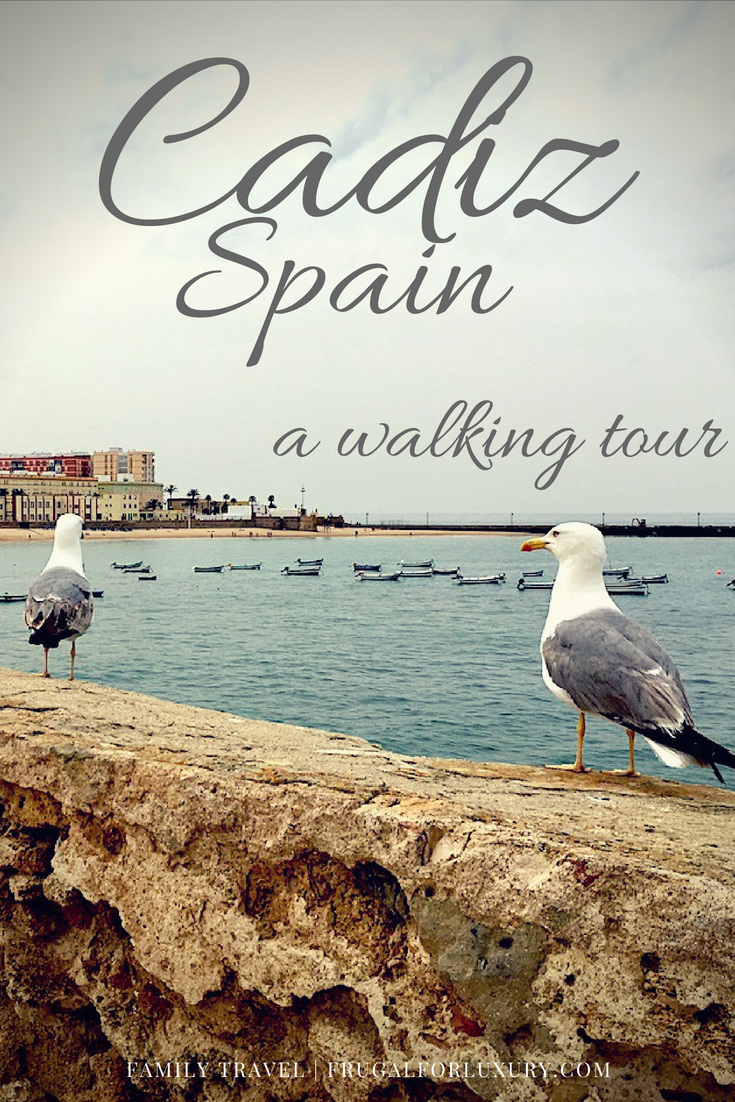 A walking tour of Cadiz, Spain, perfect with kids and if you're calling Cadiz your port of call for the day. #Cadiz #Spain #CadizSpain #PortofCall #EuropeanCruise #Mediterranean Cruise