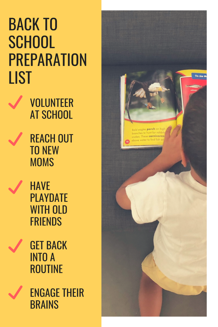 Tips to get your child ready to go back to school and have a successful transition from summer break!