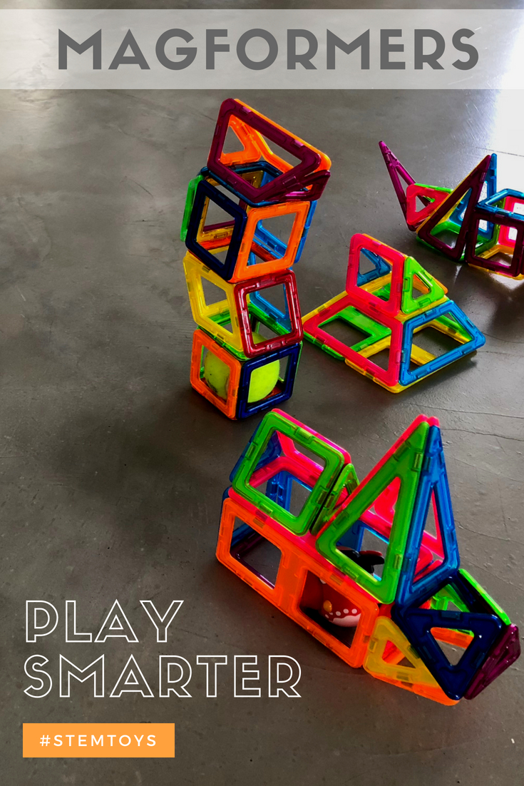 Magformers and Clicformers are some of the smartest STEM toys around. Great for kids of all ages, they allow for unlimited play and creativity! #Magformers #Clicformers #STEM #STEMToys #CreativePlay #FreePlay #ImaginativePlay #SmartToys