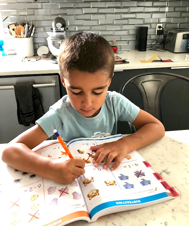 Starting kids on workbooks towards the end of summer break is the best way to get them ready for the upcoming school year