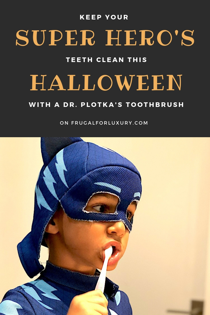 Keep your super-hero's teeth clean this Halloween with Dr. Plotka Toothbrushes #oralcare #drplotka #kidstoothbrushes #dentalcare #halloween #cleanteeth #besttoothbrushes
