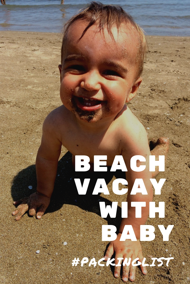 What to pack for a beach vacation with baby | baby's first trip to the beach | baby essentials for the beach | beach travel | packing list for beach trip with kids | family travel | beach with kids | #familytravel #beachtravel #packinglist #beachpackinglist #whattopack #beachvacay #traveltips